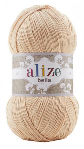 Poze Fir de tricotat sau crosetat - Fir BUMBAC 100% ALIZE BELLA 100 - BEJ 417