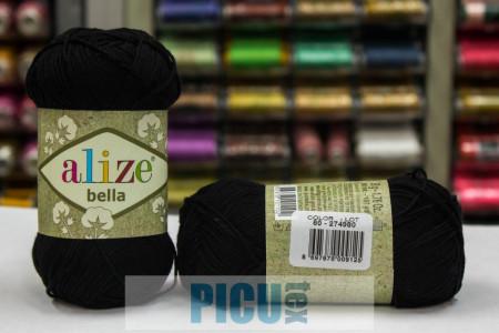 Poze Fir de tricotat sau crosetat - Fir BUMBAC 100% ALIZE BELLA - NEGRU 60