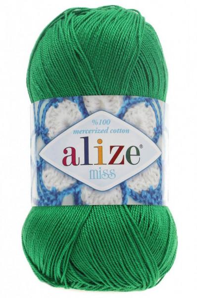 Poze Fir de tricotat sau crosetat - Fir BUMBAC 100% ALIZE MISS VERDE 123