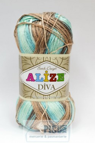 Poze Fir de tricotat sau crosetat - Fir microfibra ALIZE DIVA BATIK DEGRADE 4603