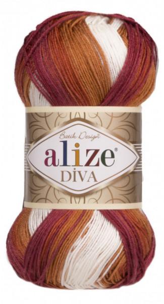 Poze Fir de tricotat sau crosetat - Fir microfibra ALIZE DIVA BATIK DEGRADE 7107