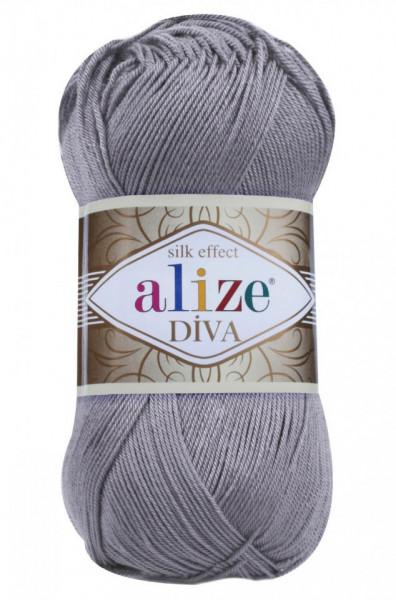 Poze Fir de tricotat sau crosetat - Fir microfibra ALIZE DIVA GRI 348