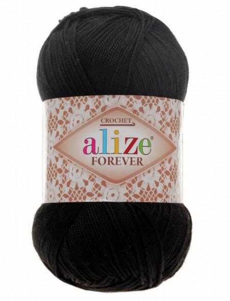 Poze Fir de tricotat sau crosetat - Fir microfibra ALIZE FOREVER NEGRU 60