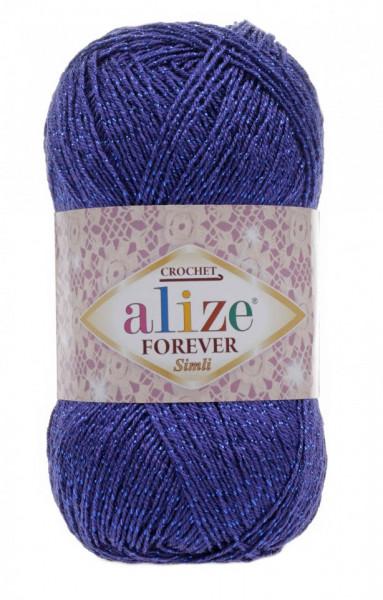 Poze Fir de tricotat sau crosetat - Fir microfibra ALIZE FOREVER SIMLI ALBASTRU 141