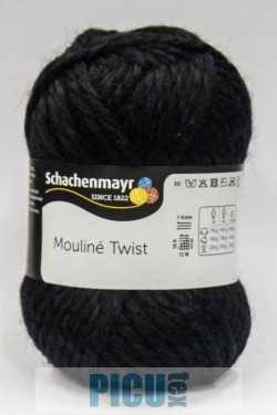 Poze Fir de tricotat sau crosetat - Fir SCHACHENMAYR Mouline Twist NEGRU 00099