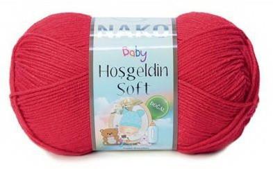 Poze Fir de tricotat sau crosetat - Fire amestec BAMBUS + POLIAMIDA NAKO Hoşgeldin Soft ROSU 6951