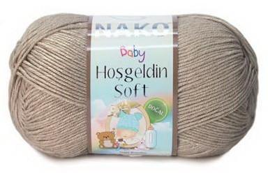 Poze Fir de tricotat sau crosetat - Fire amestec BAMBUS + POLIAMIDA NAKO Hoşgeldin Soft BEJ 6377