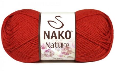 Poze Fir de tricotat sau crosetat - Fire amestec Bumbac + Acril + Vascoza NAKO NATURE Rosu 10055