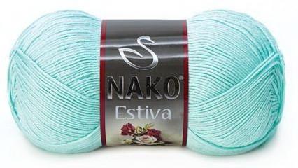 Poze Fir de tricotat sau crosetat - Fire amestec Bumbac + Bambus NAKO ESTIVA VERNIL 6708