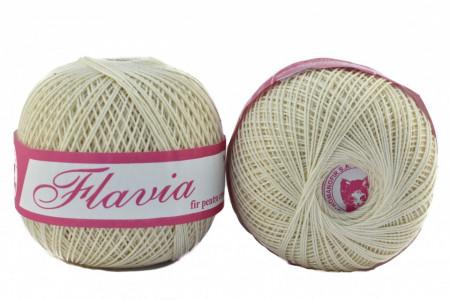 Poze Fir de tricotat sau crosetat - Fire Bumbac 100% FLAVIA ROMANOFIR BOBINA CREAM 1203
