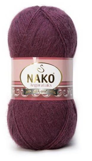 Poze Fir de tricotat sau crosetat - Fire tip mohair acril NAKO ANGORA LUKS MOV 11597