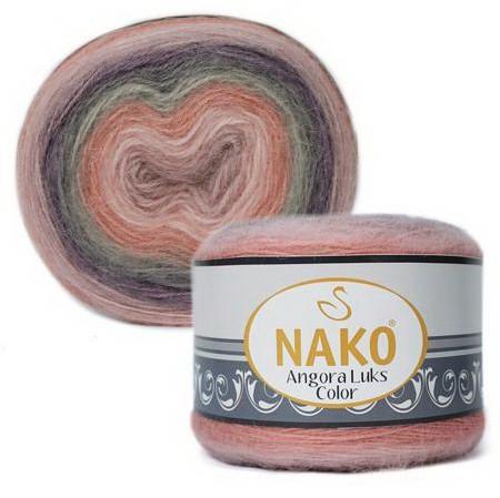 Poze Fir de tricotat sau crosetat - Fire tip mohair acril NAKO ANGORA LUKS COLOR 81915