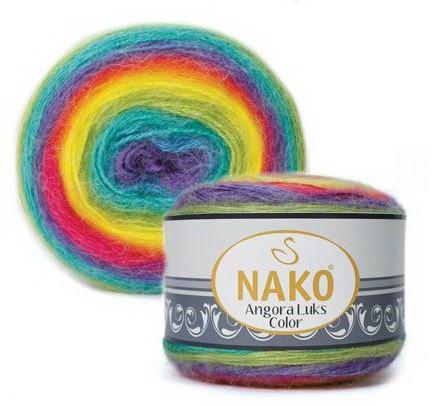 Poze Fir de tricotat sau crosetat - Fire tip mohair acril NAKO ANGORA LUKS COLOR 81920