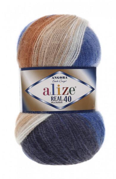 Poze Fir de tricotat sau crosetat - Fire tip mohair din acril Alize Angora Real 40 Batik degrade 6561