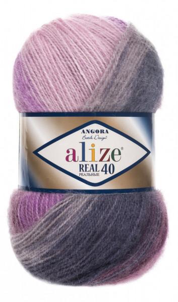 Poze Fir de tricotat sau crosetat - Fire tip mohair din acril Alize Angora Real 40 Batik degrade 4760