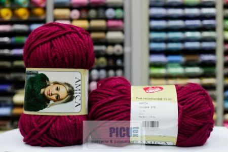 Poze Fir de tricotat sau crosetat - Fire tip mohair din acril AMICA GRENA - 315