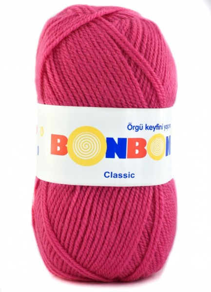 Poze Fir de tricotat sau crosetat - Fire tip mohair din acril BONBON CLASIC ROZ 98319