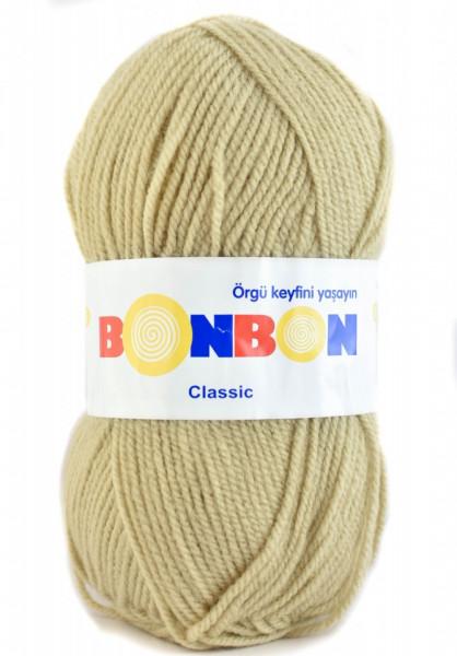 Poze Fir de tricotat sau crosetat - Fire tip mohair din acril BONBON CLASIC BEJ 98209