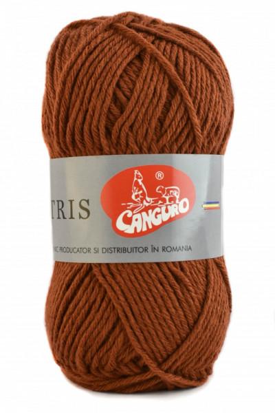 Poze Fir de tricotat sau crosetat - Fire tip mohair din acril CANGURO - TRIS MARO 320