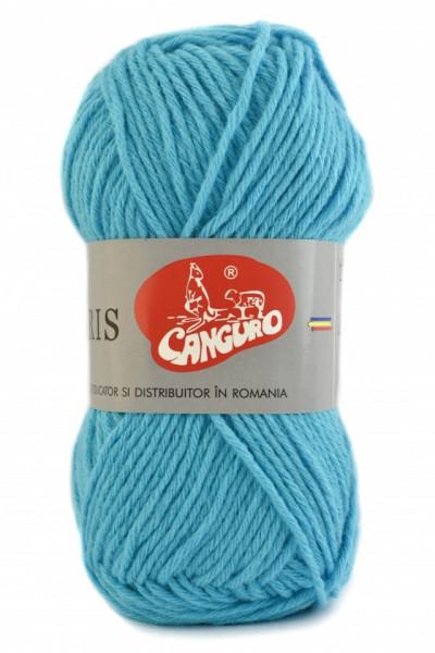 Poze Fir de tricotat sau crosetat - Fire tip mohair din acril CANGURO - TRIS ALBASTRU 337