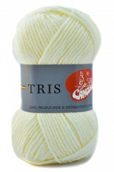 Poze Fir de tricotat sau crosetat - Fire tip mohair din acril CANGURO - TRIS CREAM 302