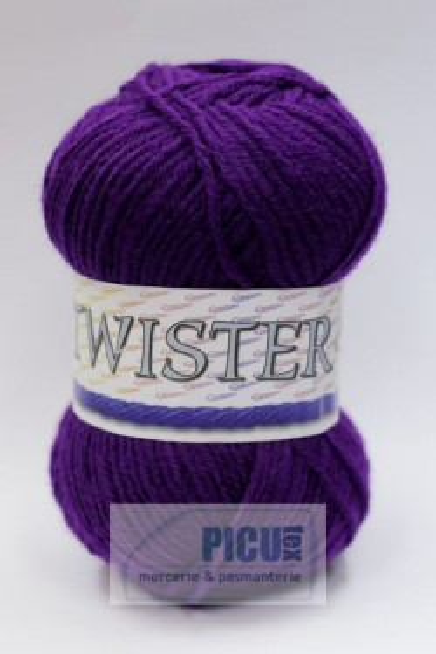 Poze Fir de tricotat sau crosetat - Fire tip mohair din acril CANGURO - TWISTER MOV 332