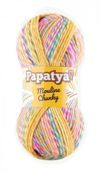 Poze Fir de tricotat sau crosetat - Fire tip mohair din acril Kamgarn Papatya Mouline Chunky Degrade 5361