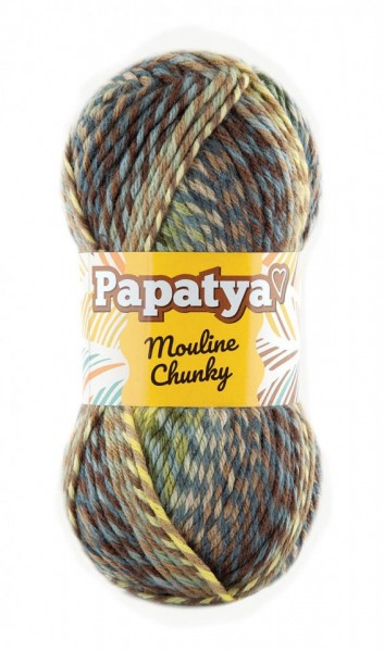 Poze Fir de tricotat sau crosetat - Fire tip mohair din acril Kamgarn Papatya Mouline Chunky Degrade 6070