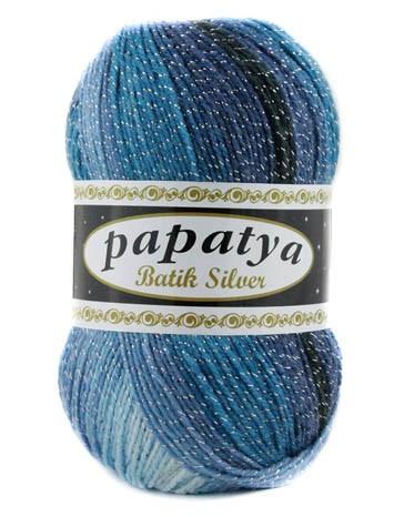 Poze Fir de tricotat sau crosetat - Fire tip mohair din acril Kamgarn Papatya Silver Batik degrade 19