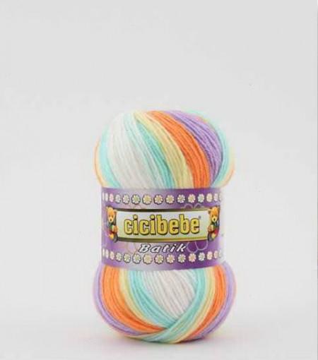 Poze Fir de tricotat sau crosetat - Fire tip mohair din acril Kamgarn Cicibebe Batik degrade 03
