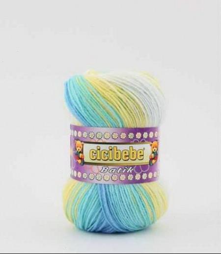 Poze Fir de tricotat sau crosetat - Fire tip mohair din acril Kamgarn Cicibebe Batik degrade 08