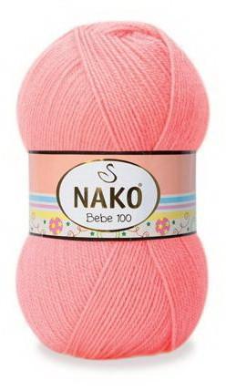 Poze Fir de tricotat sau crosetat - Fire tip mohair din acril Nako Baby Bebe 100 CORAI NEON 11157