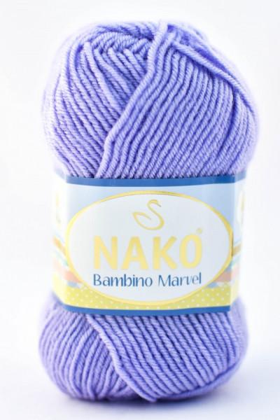 Poze Fir de tricotat sau crosetat - Fire tip mohair din acril Nako Baby MARVEL LILA 4480