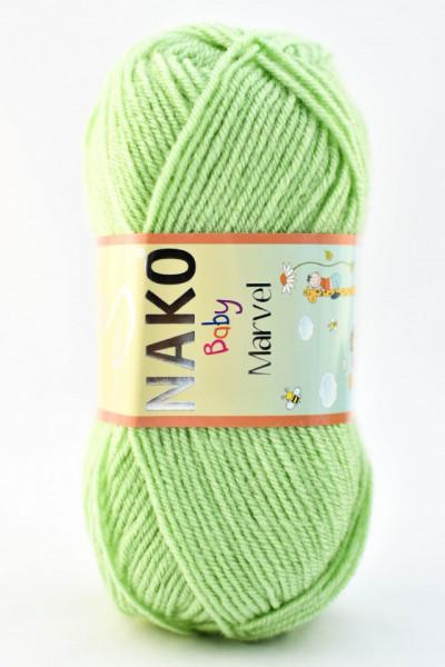 Poze Fir de tricotat sau crosetat - Fire tip mohair din acril Nako Baby MARVEL VERDE 10154