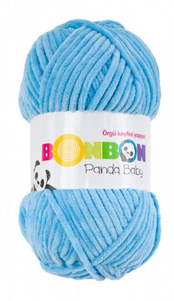 Poze Fir de tricotat sau crosetat - Fire tip mohair din acril NAKO BONBON PANDA BABY BLEO 3123