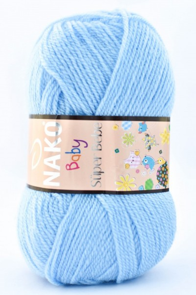 Poze Fir de tricotat sau crosetat - Fire tip mohair din acril Nako SUPER BEBE BLEO 214