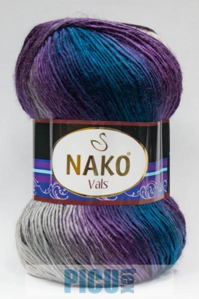 Poze Fir de tricotat sau crosetat - Fire tip mohair din acril premium Nako VALS DEGRADE 86385
