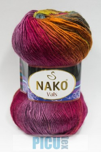 Poze Fir de tricotat sau crosetat - Fire tip mohair din acril premium Nako VALS DEGRADE 86464