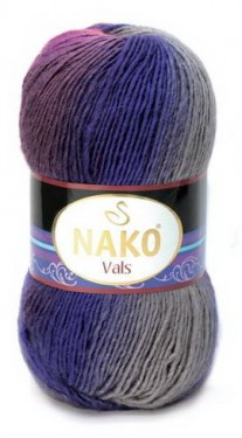 Poze Fir de tricotat sau crosetat - Fire tip mohair din acril premium Nako VALS DEGRADE 86622