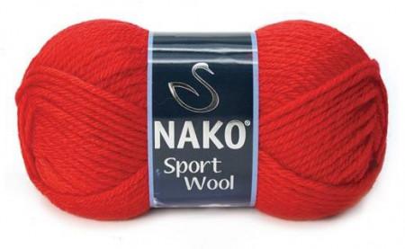 Poze Fir de tricotat sau crosetat - Fire tip mohair din acril si lana Nako Sport Wool ROSU 1140