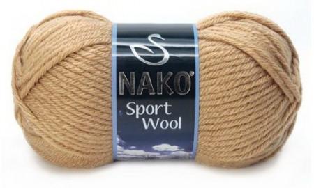 Poze Fir de tricotat sau crosetat - Fire tip mohair din acril si lana Nako Sport Wool BEJ 221