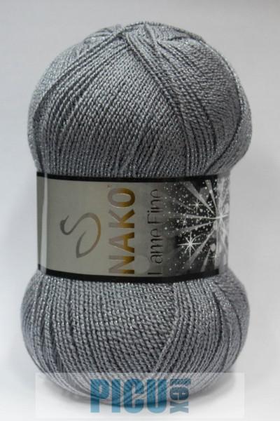 Poze Fir de tricotat sau crosetat - Fire tip mohair din acril si poliester metalic NAKO LAME FINE GRI 4192KG