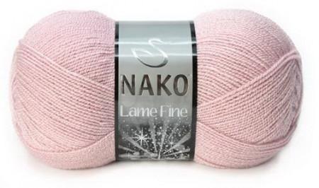Poze Fir de tricotat sau crosetat - Fire tip mohair din acril si poliester metalic NAKO LAME FINE ROZ 10639SE