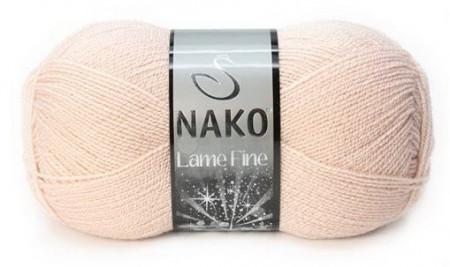 Poze Fir de tricotat sau crosetat - Fire tip mohair din acril si poliester metalic NAKO LAME FINE BEJ 5480SE