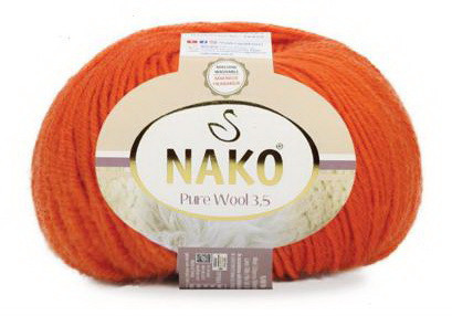 Poze Fir de tricotat sau crosetat - Fire tip mohair din lana 100% Nako PURE WOOL 3.5 PORTOCALIU 6963