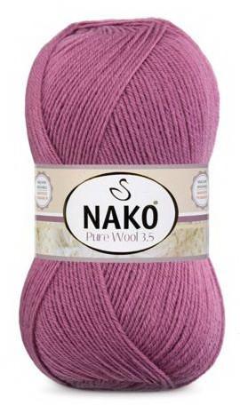 Poze Fir de tricotat sau crosetat - Fire tip mohair din lana 100% Nako PURE WOOL 3,5 ROZ 569