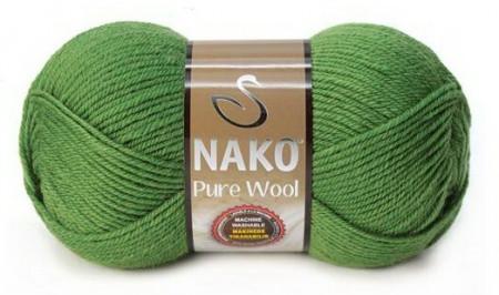 Poze Fir de tricotat sau crosetat - Fire tip mohair din lana 100% Nako PURE WOOL VERDE 5300