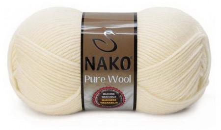 Poze Fir de tricotat sau crosetat - Fire tip mohair din lana 100% Nako PURE WOOL CREAM 2378
