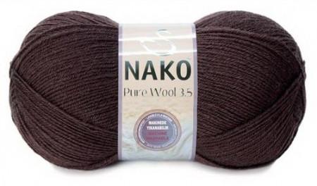 Poze Fir de tricotat sau crosetat - Fire tip mohair din lana 100% Nako PURE WOOL 3,5 MARO 282