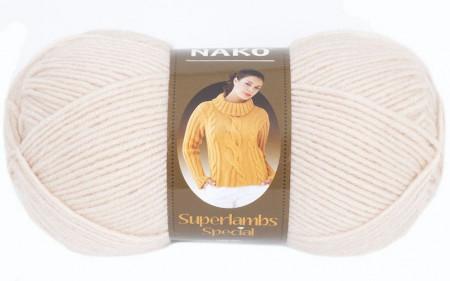 Poze Fir de tricotat sau crosetat - Fire tip mohair din lana 50% si acril 50% Nako Superlambs Special bej 2250